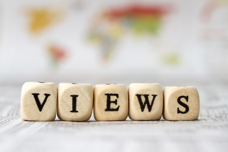 views built word with letter cubes photo