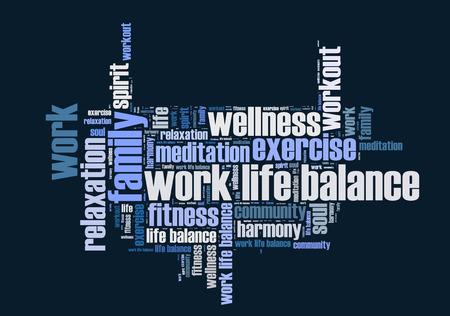 work life balance wordcloud Stok Fotoğraf