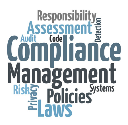 Compliance word cloud Stock Photo