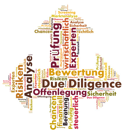due: Due Diligence word cloud Stock Photo