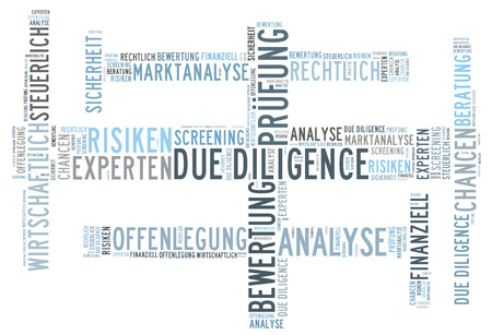 diligence: due diligence Stock Photo