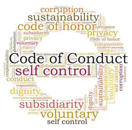 conduct: Code of Conduct word cloud