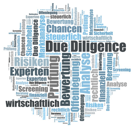 legally: Due Diligence word cloud Stock Photo