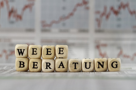 pronunciation: WEEE advice Stock Photo