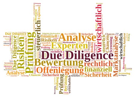 diligence: Due Diligence wordcloud Stock Photo