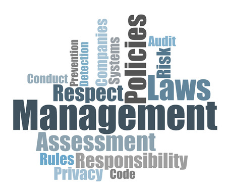 assessment system: Compliance word cloud Stock Photo