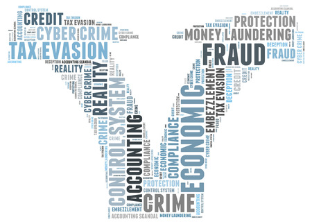 Fraude woordwolk Stockfoto