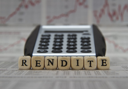 capital gains: Return on investment word on newspaper background