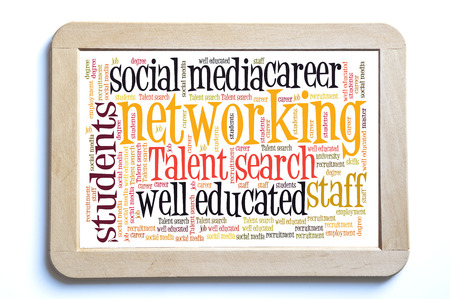 master degree: Networking word cloud Stock Photo