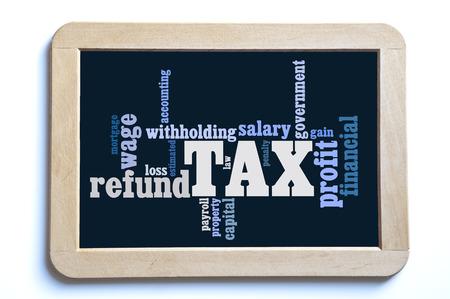 capital gains: tax word cloud