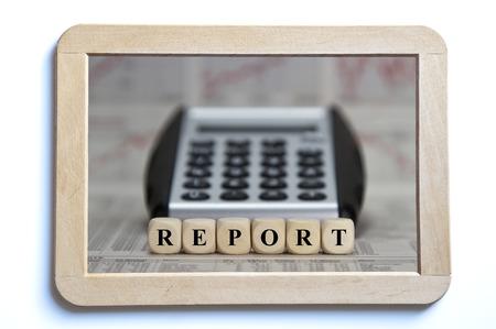 expose: Report Stock Photo