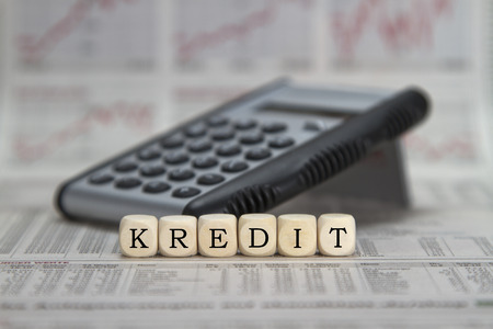 repayment: Loan word built with letter cubes