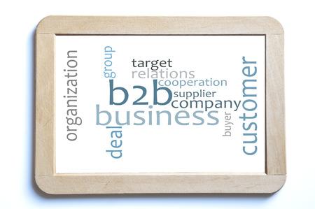 b2b: b2b nube empresarial palabra