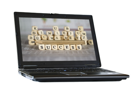 success word: success word on newspaper background Stock Photo