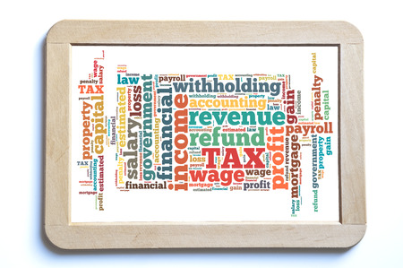 withholding: tax word cloud