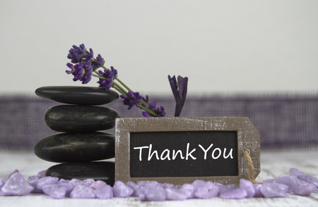 hot stones: Thank you with hot stones and lavender