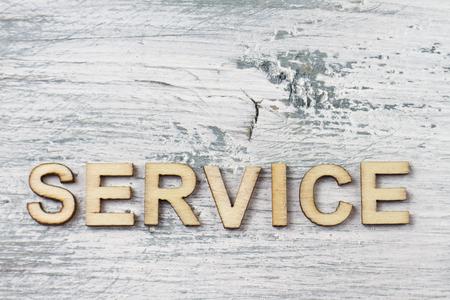 await: SERVICE Stock Photo