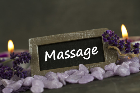 Massage therapy: relaxing and wellbeing Stock Photo
