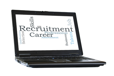 qualifications: Recruitment word cloud Stock Photo