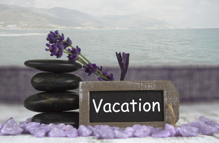 hot stones: vacation with hot stones and lavender