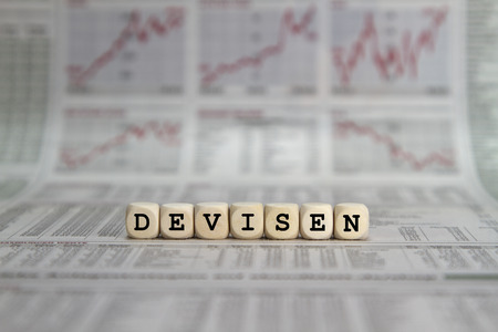 realtime: Devisen word built with letter cubes