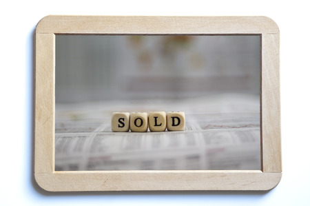 sold: Sold Stock Photo