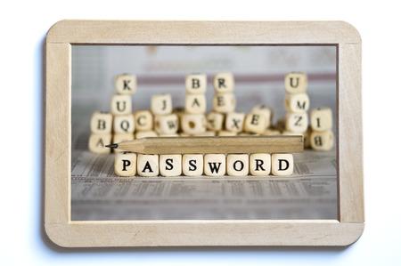 password: password word on newspaper background