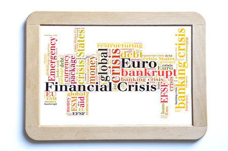 financial crisis: Financial crisis word cloud Stock Photo