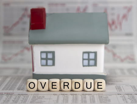 accounts payable: overdue word built with letter cubes