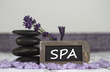 hot stones: SPA with hot stones and lavender
