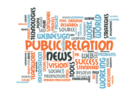 relaciones publicas: Public relations word cloud