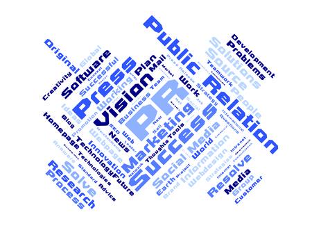 public relation: Public relation word cloud Stock Photo