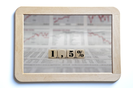 interest rate: 1,5 percent inflation or interest rate Stock Photo
