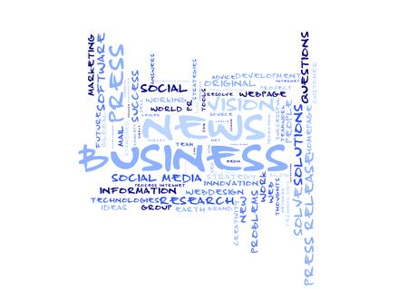 Business News word cloud Reklamní fotografie
