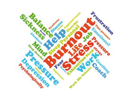 burnout: Burnout word cloud Stock Photo