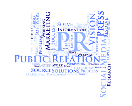 relation: Public relation word cloud Stock Photo