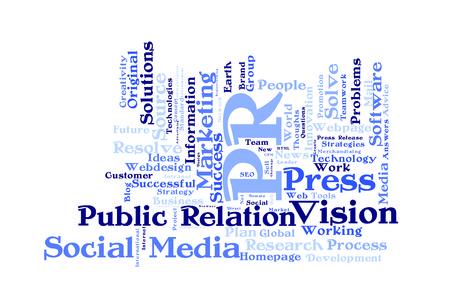 relaciones publicas: Las relaciones p�blicas nube de palabras Foto de archivo