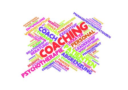 therapie: Coaching word cloud Stock Photo