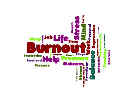 burn out: Burn out word cloud