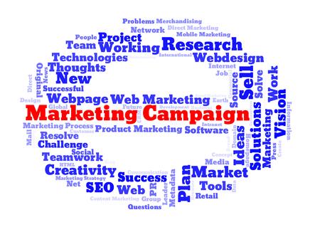 metadata: Marketing campaign word cloud Stock Photo