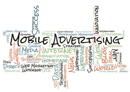 mobile advertising: Mobile Advertising word cloud