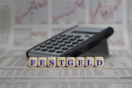 the deposits: fixed deposits Stock Photo