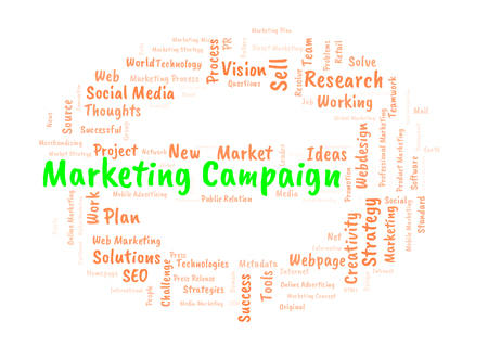 metadata: Marketing campaign word cloud Stock Photo