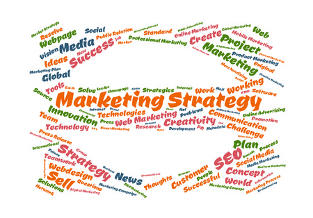 metadata: Marketing Strategy word cloud shaped as a stop sign