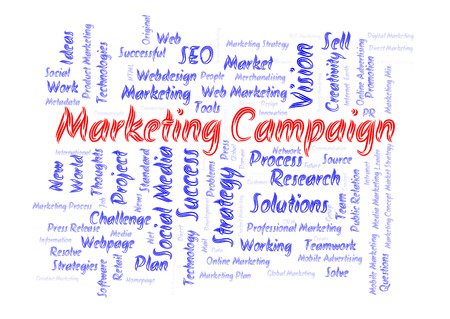 successful campaign: Marketing campaign word cloud Stock Photo