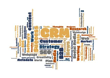metadata: CRM word cloud Stock Photo