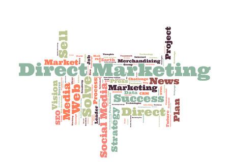 direct marketing: Direct Marketing word cloud Stock Photo