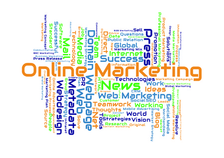 marketing online: Online Marketing word cloud Stock Photo