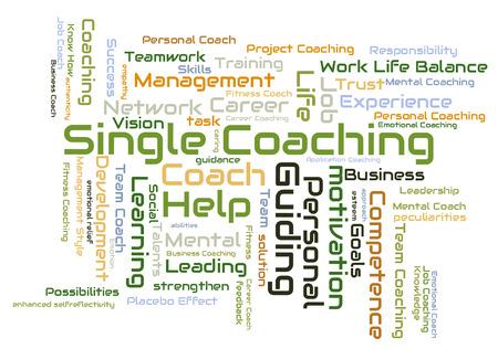 single word: Single coaching word cloud Stock Photo