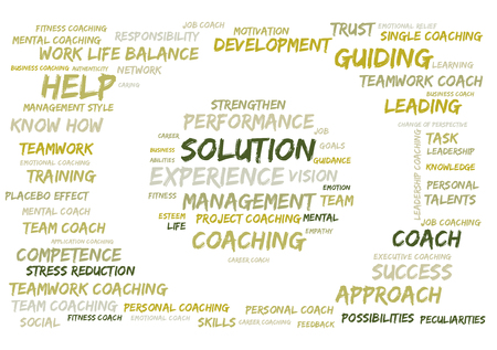 solution: Solution word cloud Stock Photo